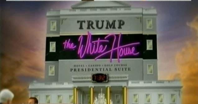 البيت الأبيض كما عرضه أوباما ساخراً من ترمب