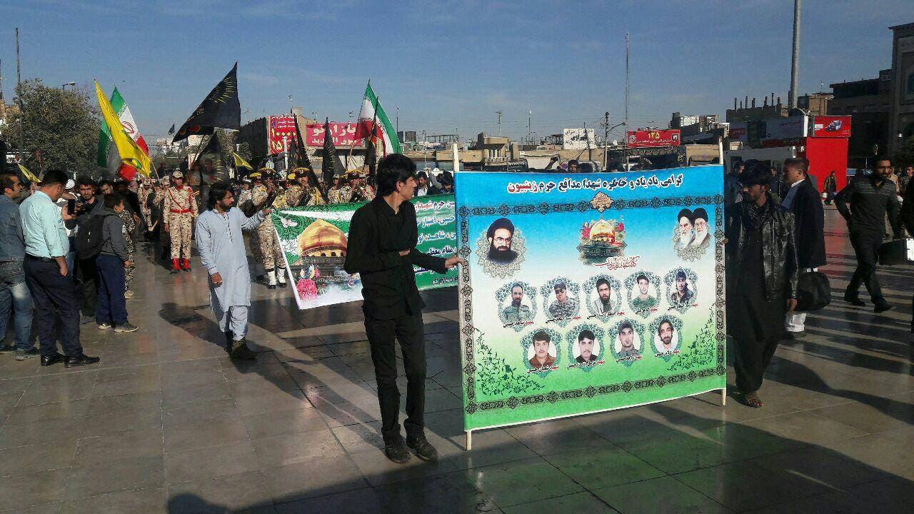 قم- تشییع کشته شدگان پاکستانی عضو زینبیون در حلب
