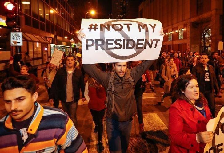 من الاحتجاجات ضد ترمب