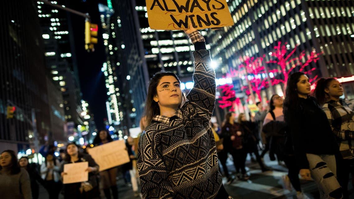 احتجاجات على انتخاب ترمب في نيويورك
