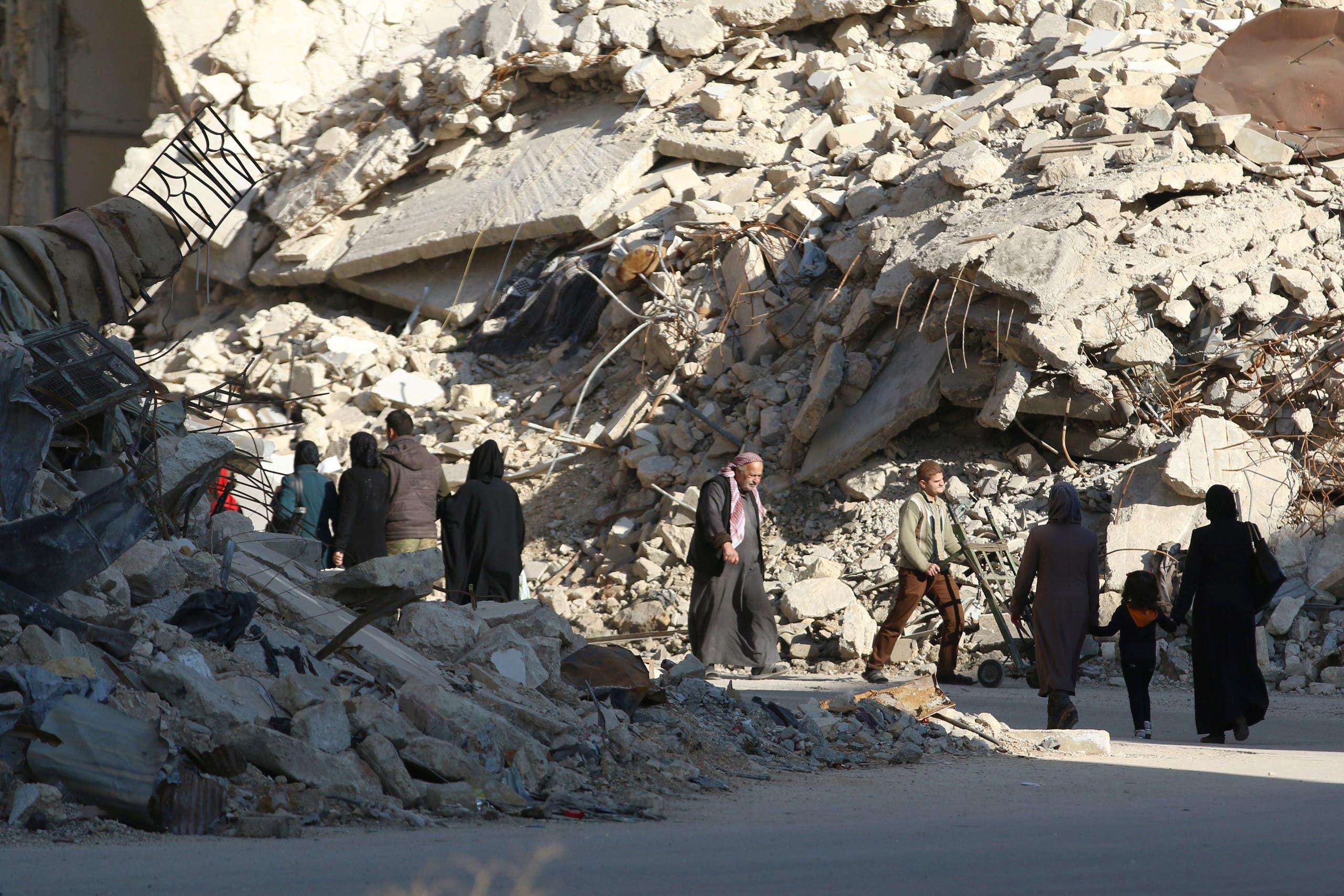من الدمار في حلب