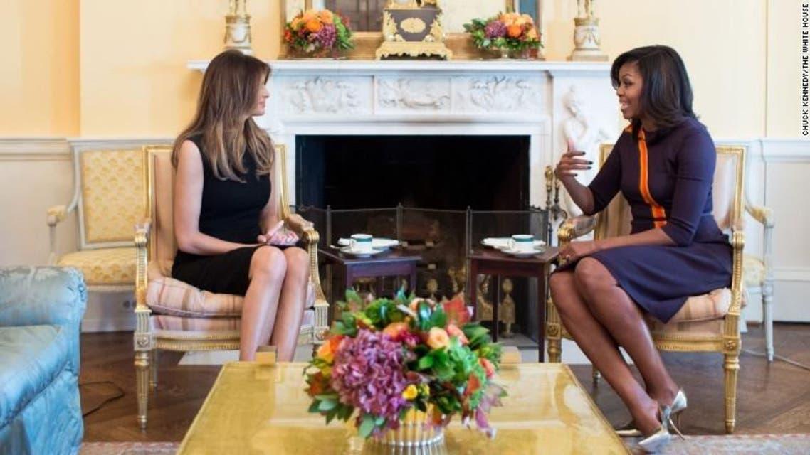 ميشال أوباما + ميلانيا ترمب 3