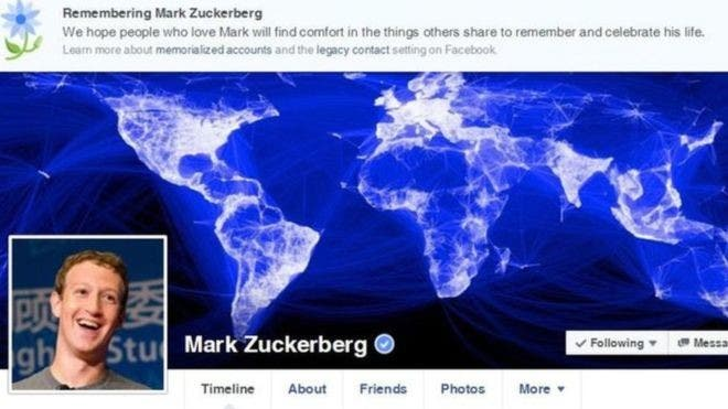 مارك نفسه وقد مات بحسب الفيسبوك حيث الخلل نفسه