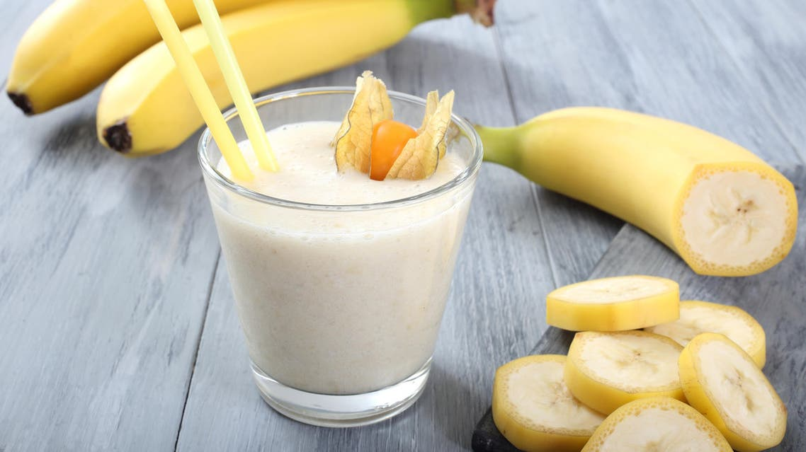 Banana Smoothie Milkshake الموز موز 2