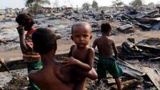 Satellite images show Myanmar Muslim villages torched