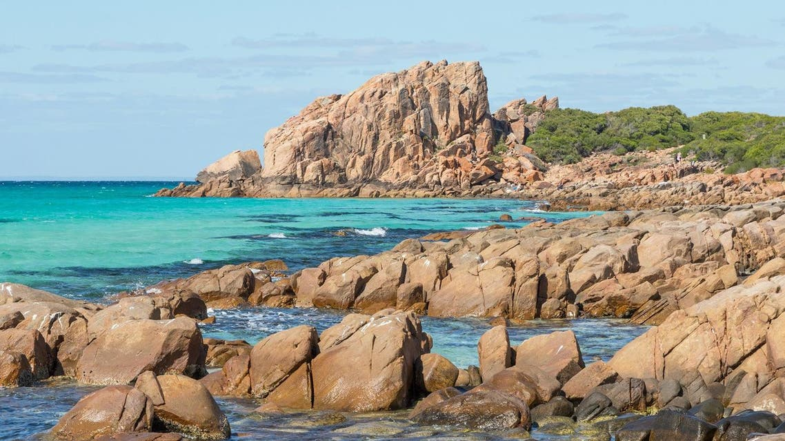 Castle Rock, near Dunsborough in Western Australia, is a massive chunk of orange granite standing tall at the end of beautiful Castle Bay. (Shutterstock)