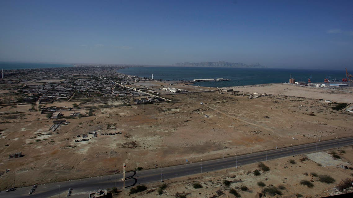 A view of Gwadar port (right), and town area, about 700 kilometers west of Karachi, Pakistan. Gwadar Port is a deep-sea port developed jointly by the Pakistan and China at a cost of $248 million. (AP)