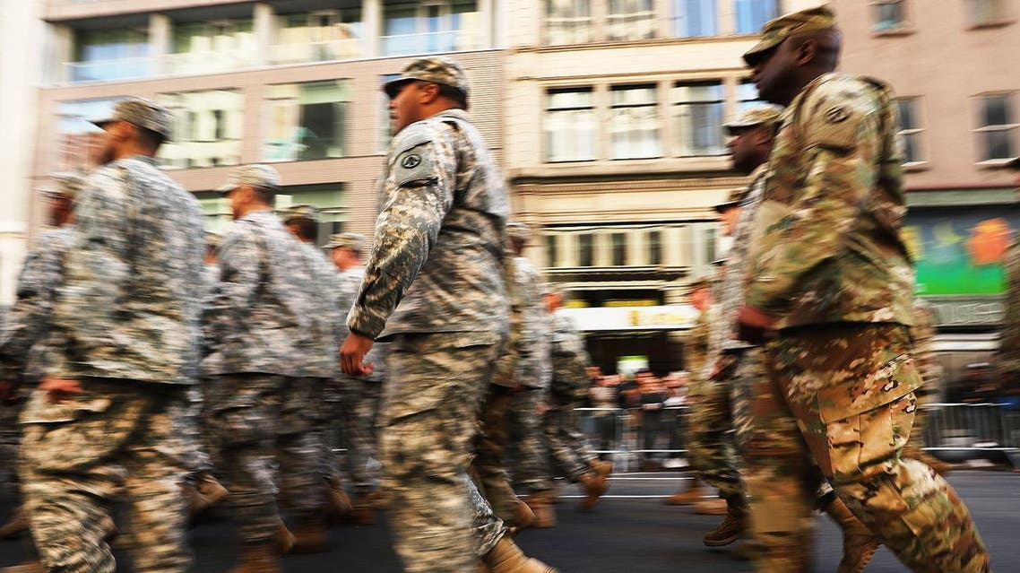 AFP NEW YORK, NY - NOVEMBER 11: Members of the U.S. Army march in the nation's largest Veterans Day Parade in New York City on November 11, 2016