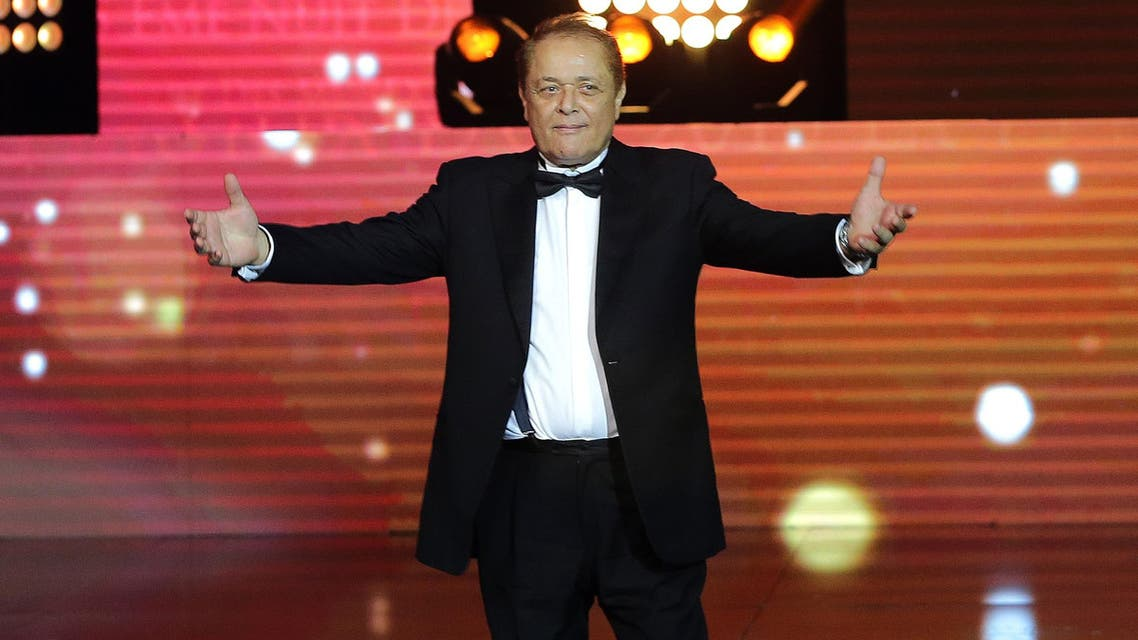 afp Egyptian actor Mahmoud Abdel Aziz salutes the audience after receiving a life achievement award during the 15th annual Murex d'Or awards ceremony held at the Casino Du Liban in Maameltein north of Beirut on June 4, 2015. AFP