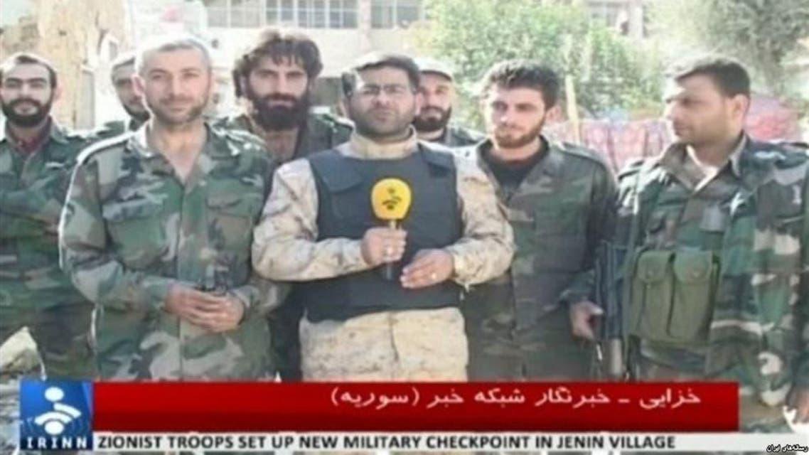 محسن خزايي مراسل التلفزيون الايراني في سوريا