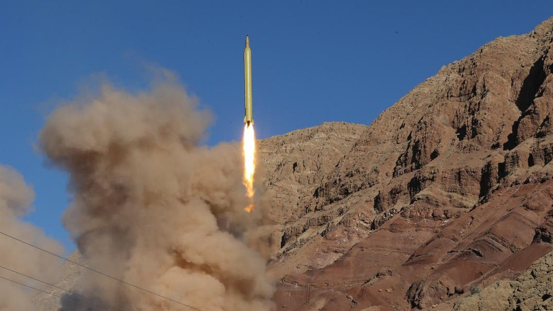 A long-range Qadr ballistic missile is launched in the Alborz mountain range in northern Iran on March 9, 2016. Iran said its armed forces had fired two more ballistic missiles as it continued tests in defiance of US warnings.  Mahmood Hosseini / TASNIM NEWS / AFP
