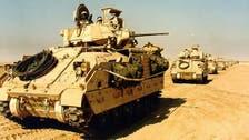 US army sends Lebanon eight Bradley armored vehicles