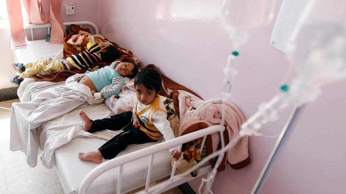 Yemeni children receive treatment at a hospital in the capital Sanaa on October 11, 2016. AFP