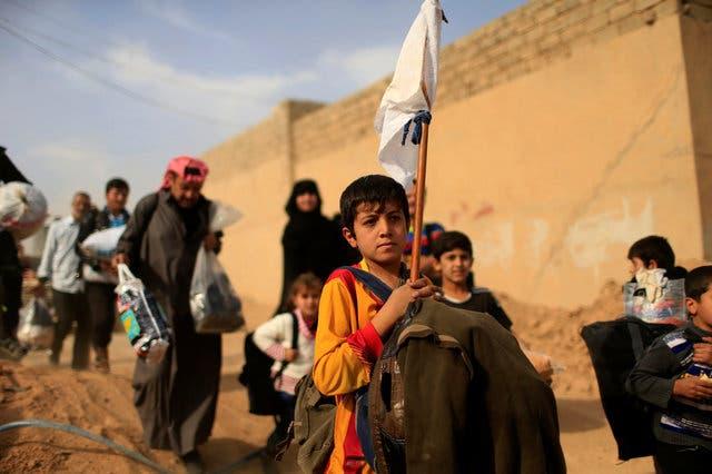 نازحون من محيط الموصل