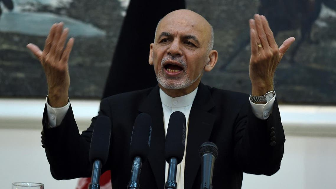 """AFP Afghan President Ashraf Ghani gestures as he addresses a press conference at the Presidential Palace in Kabul on July 11, 2016. Ghani on July 11 welcomed as an """"achievement"""" the renewed funding commitment from NATO for his country's fledgling security forces amid increasing Taliban insurgency.  WAKIL KOHSAR / AFP"""