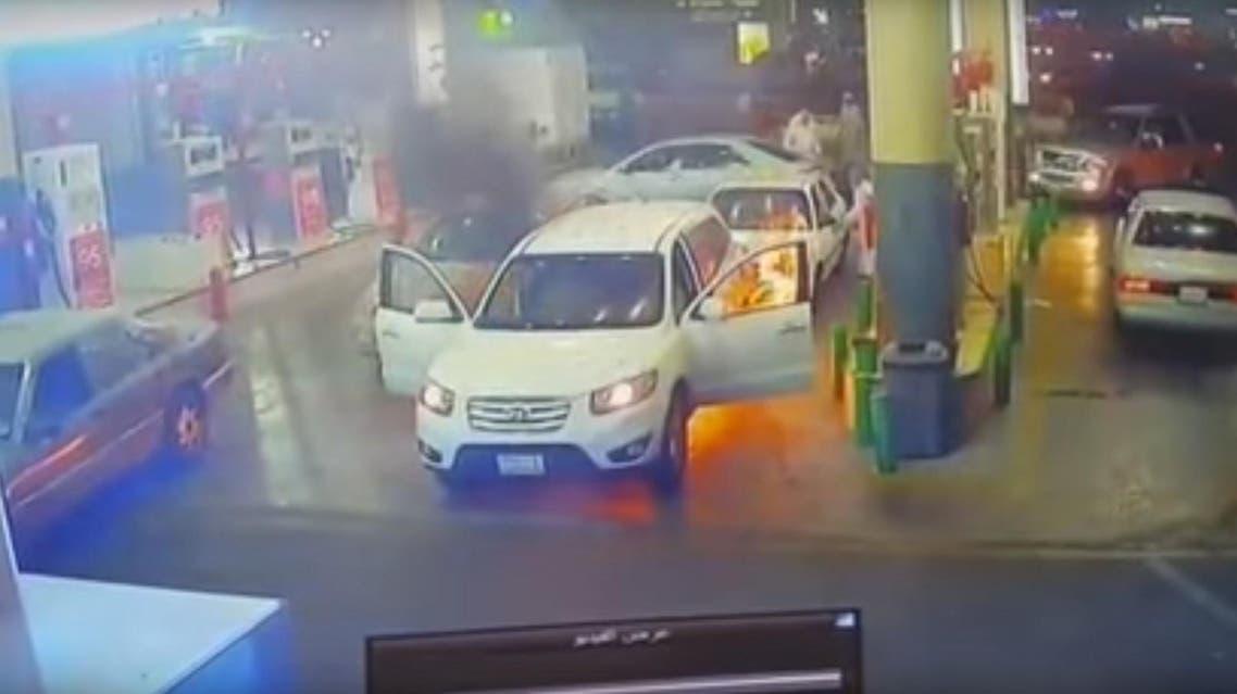 saudi car fire