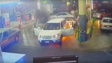 Moment hero Saudi son saves mother from fire