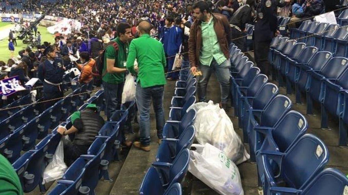 السعودية اليابان مبتعثين جمهور الأخضر تنظيف