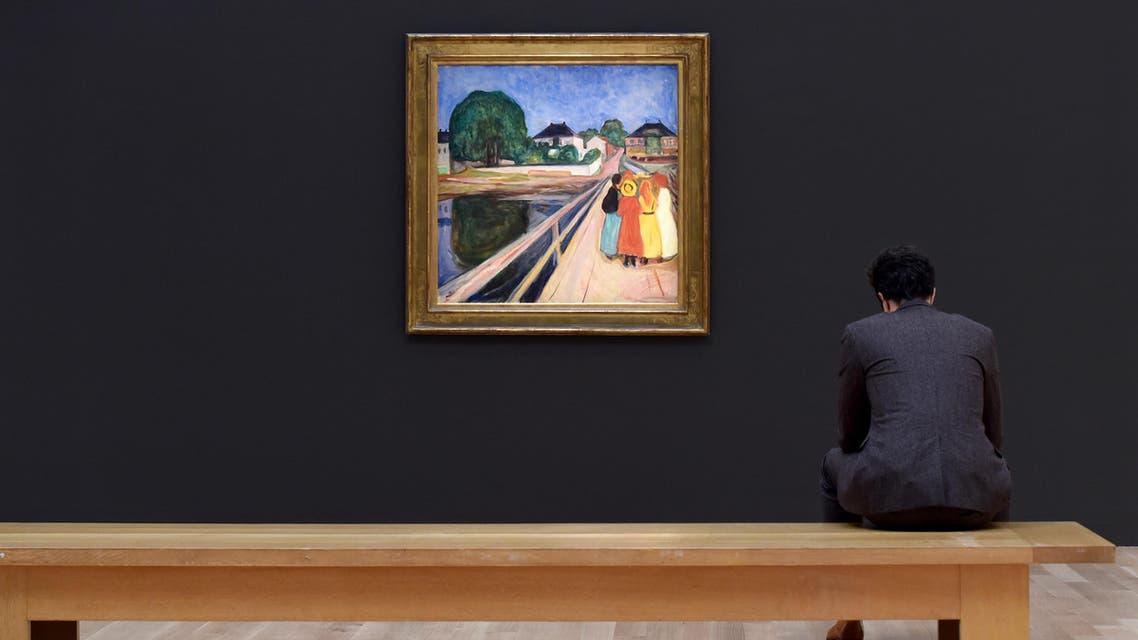الفتيات على الجسر لـ إدفارت مونك خلال معرض في نيويورك - فرانس برس