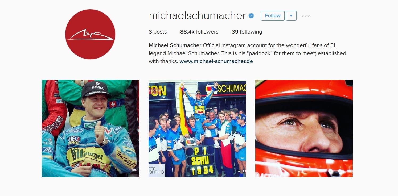 Racing legend Michael Schumacher opens social media account - Al