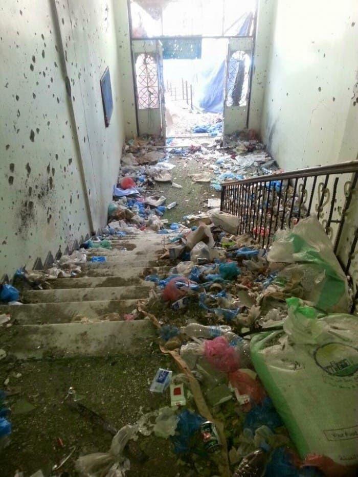 أفعال الميليشيات في مسجد التوحيد في تعز