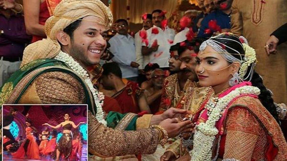 العروسان الأربعاء في حفل زفاف كلف 5 مليارات روبية