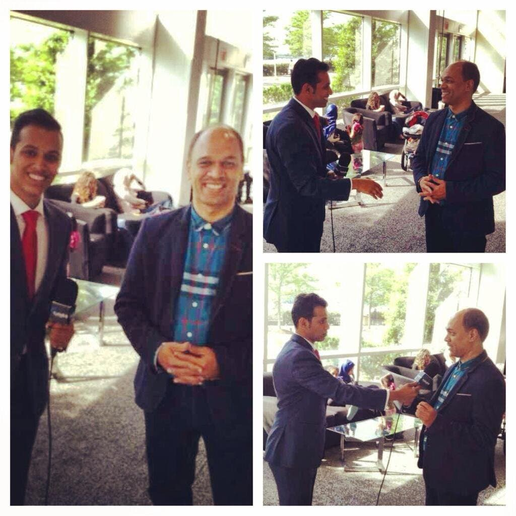 Saudi student in US Ibrahim Faqeeh is also a sports reporter for the Saudi sport TV channel in Washington DC. (Supplied)