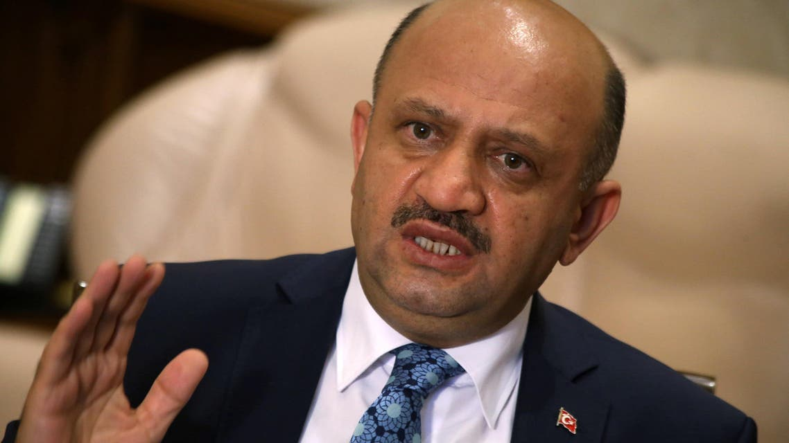 Turkey's Defence Minister Fikri Isik answers a question during an interview with Reuters in Ankara, Turkey, August 5, 2016. REUTERS