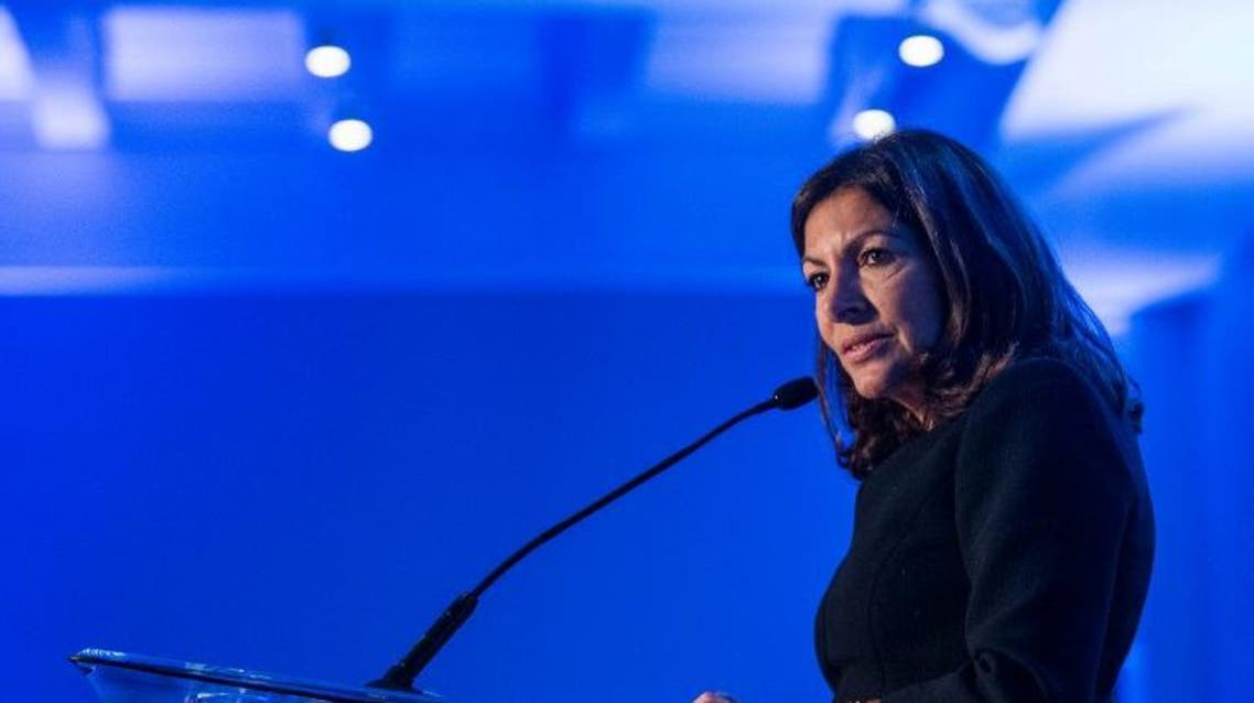 Paris Mayor Anne Hidalgo speaks after receiving the Green Diplomat of the Year Award during the fifth annual Diplomat of the Year Awards Dinner hosted by Foreign Policy November 17, 2016 AFP