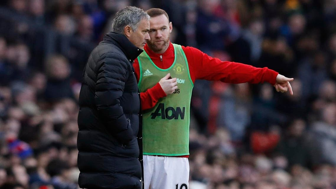 Manchester United manager Jose Mourinho came to Wayne Rooney's defense. (Reuters)