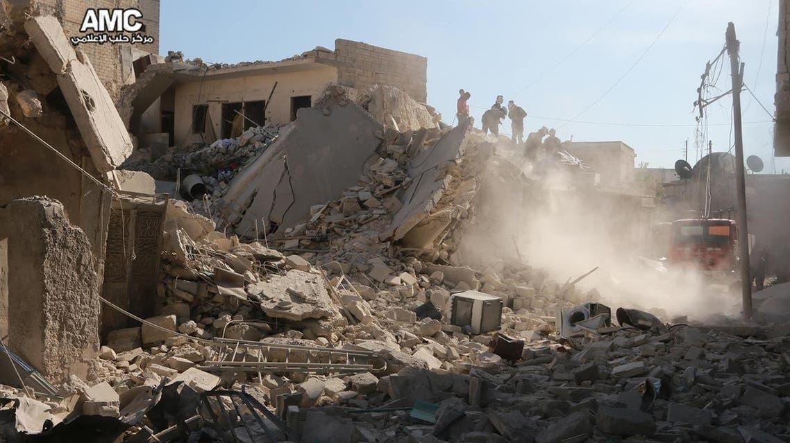 قصف مستشفى في حي الشعار شرق حلب