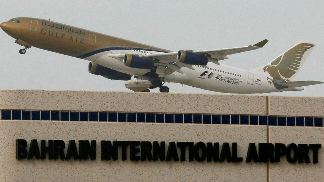 A Gulf Air aircraft takes off from Bahrain International Airport in Muharraq May 7, 2007. Bahrain took full ownership of Gulf Air on Saturday as joint-owner Oman withdrew from the loss-making carrier, the company's vice-chairman said. REUTERS