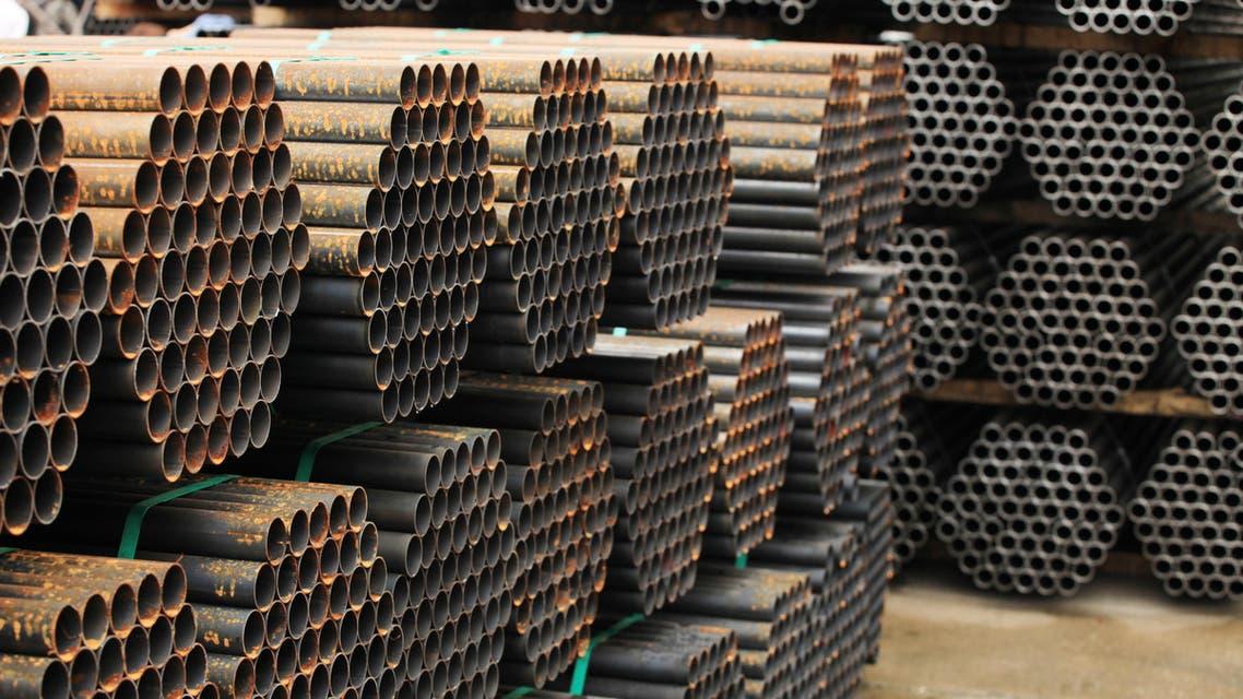Steel pipes (Shutterstock)