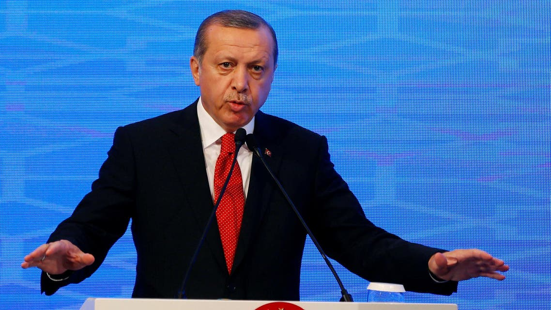 Turkish President Tayyip Erdogan makes a speech during the NATO Parliamentary Assembly 62nd Annual Session in Istanbul, Turkey, November 21, 2016. REUTERS/Murad Sezer