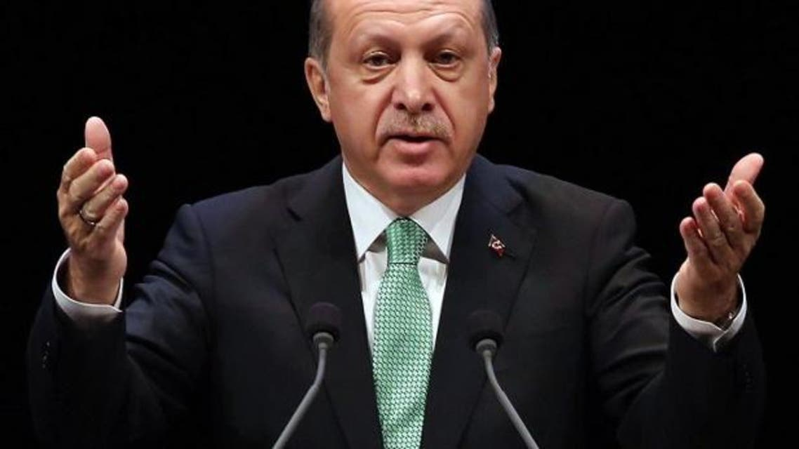 Turkish President Recep Tayyip Erdogan delivers a speech during the Living Human Treasures award ceremony at the Bestepe National Congress and Culture Centre in Ankara on November 3, 2016. (AFP)