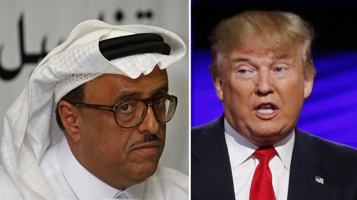 During the long presidential race, Dhahi Khalfan defended Trump and wished him victory. (AP)