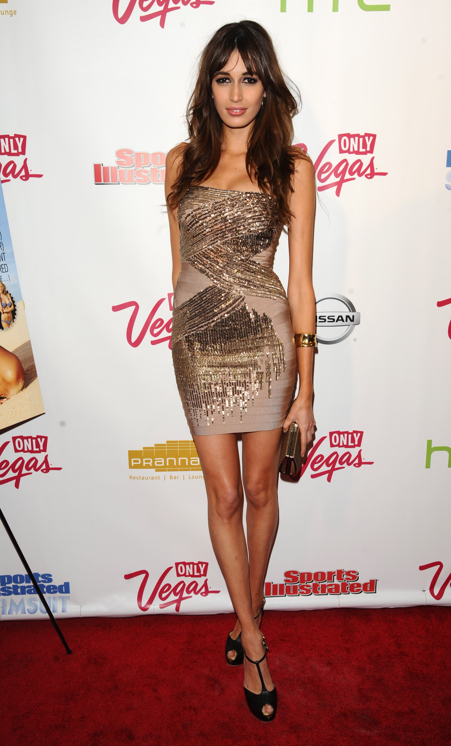 Kenza Fourati attends the 2011 Sports Illustrated swimsuit issue unveiling party, in New York on Tuesday, Feb. 15, 2011. (AP