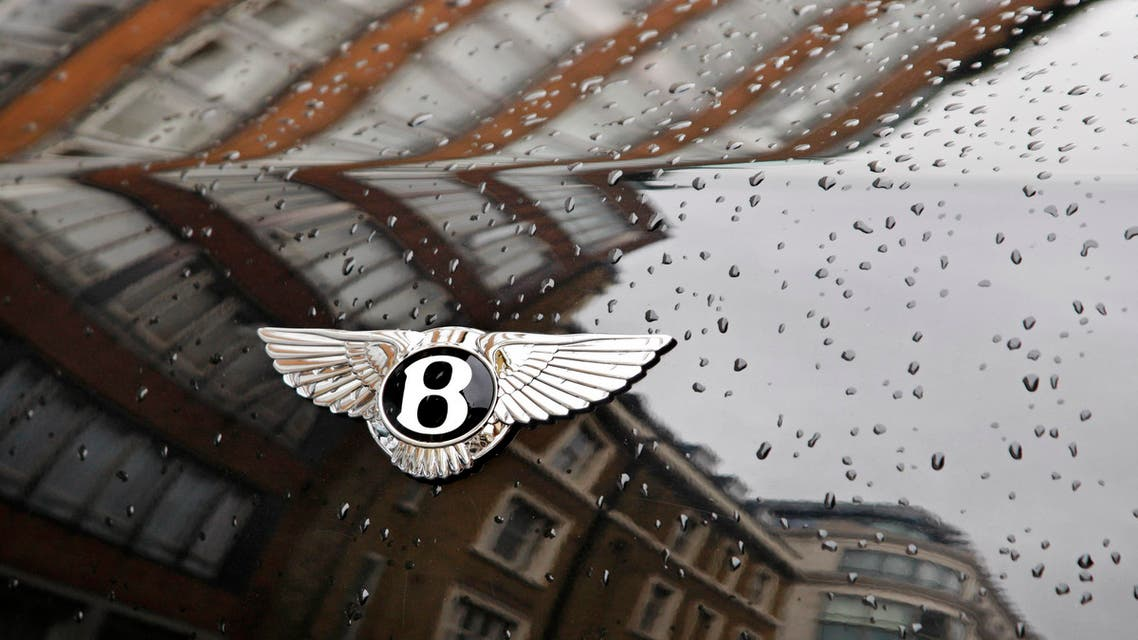 A logo is seen on a Bentley car parked on a street in central London, Thursday, Sept. 23, 2010.