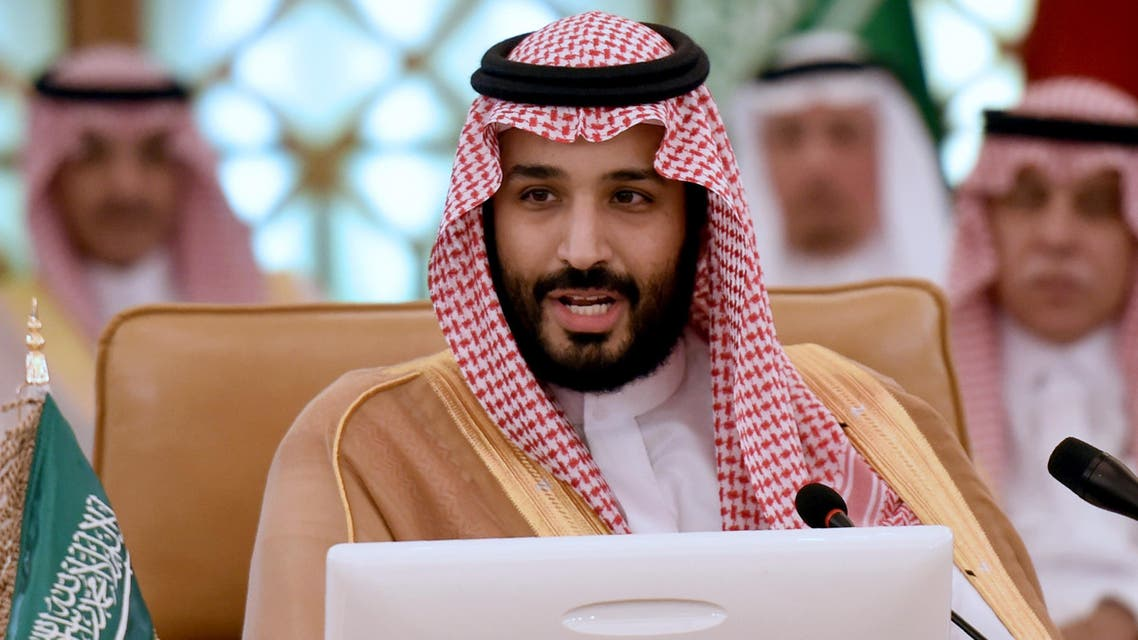 Saudi Deputy Crown Prince, Defence Minister and Chairman of the Council for Economic and Development Affairs Mohammed bin Salman (R) addresses the first meeting of Gulf Cooperation Council (GCC) Economic and Development Affairs Authority in Riyadh on November 10, 2016. AFP