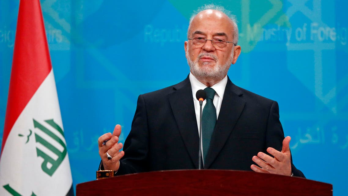 Iraqi Foreign Minister Ibrahim al-Jaafari speaks during a news conference in Baghdad, Iraq,Thursday, Oct. 27, 2016. (AP