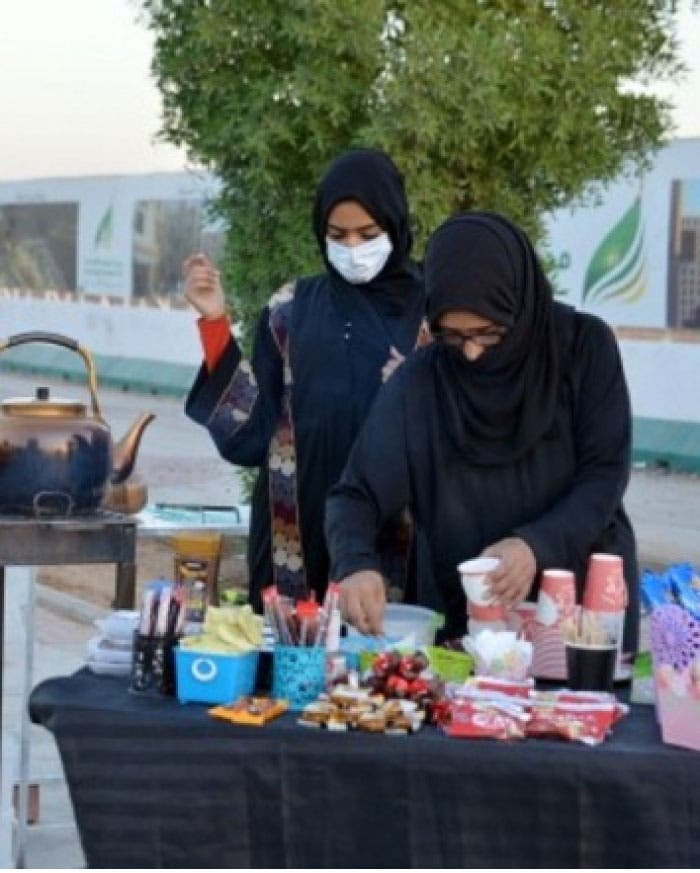 Saudi tea seller