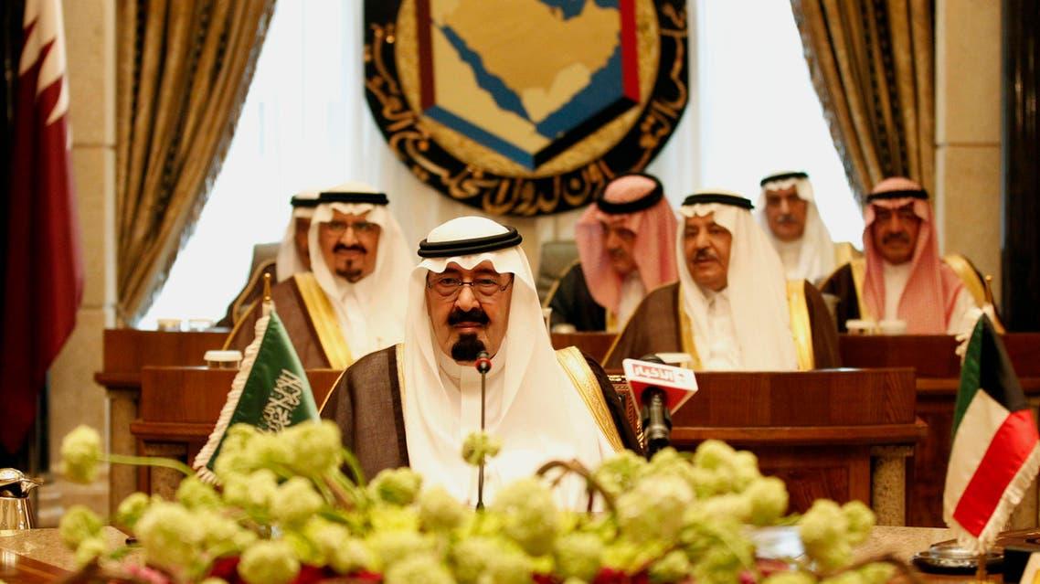 Saudi King Abdullah bin Abd al-Aziz, in front row , attends the Gulf Cooperation Council (GCC) summit in Riyadh, Saudi Arabia, Tuesday, May 11, 2010. In back row from centre to right :- Riyadh Governor Prince Salman bin Abdul Aziz al-Saud, Saudi Foreign Minister Prince Saud al-Faisal, and Saudi Intelligence chief Prince Muqrin Bin Abbdul Aziz al-Saud. In middle row from left:- Saudi Crown Prince Sultan bin Abdul Aziz al-Saud and Saudi Interior Minister Prince Nayef bin Abdul Aziz al-Saud. (AP)