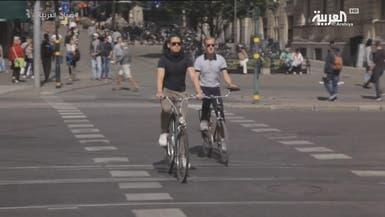 التجول على دراجة في السويد