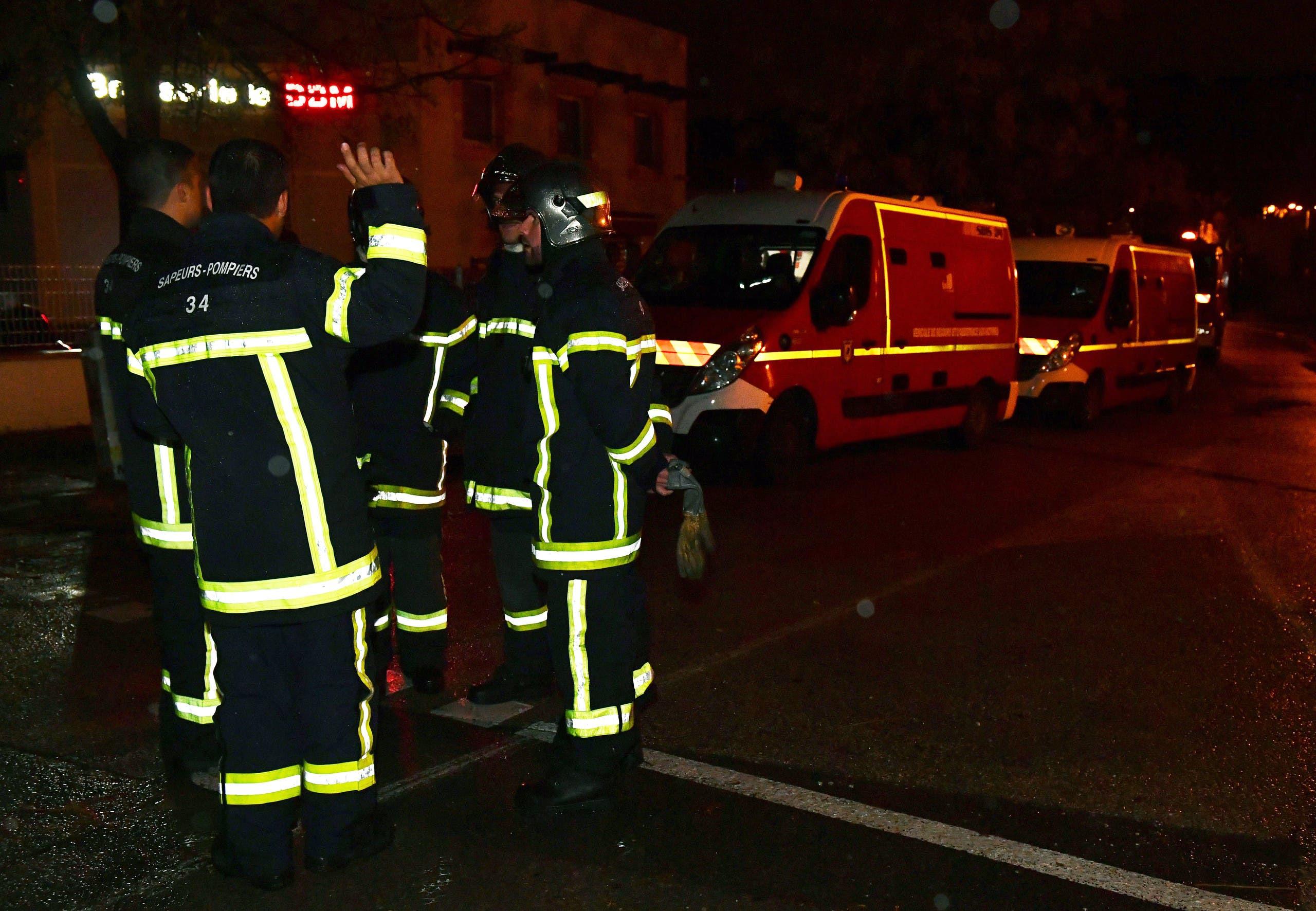 الدفاع المدني في مكان الحادث