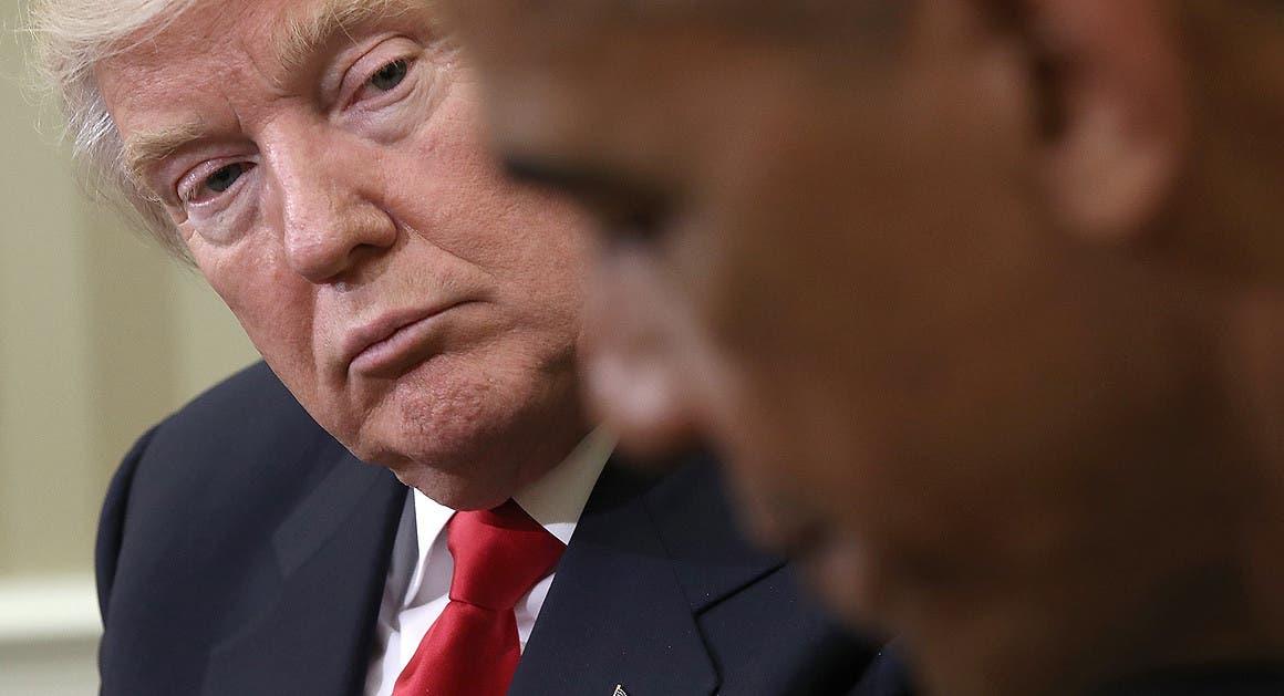 ترمب و أوباما