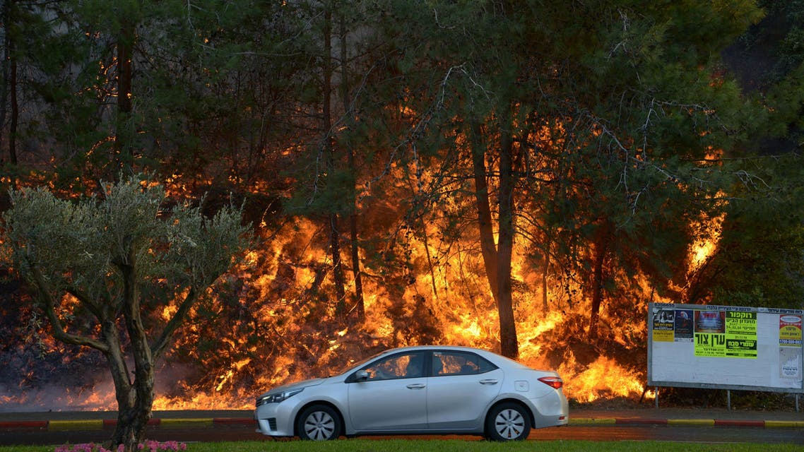 حرائق حريق حيفا إسرائيل اسرائيل haifa israel fire