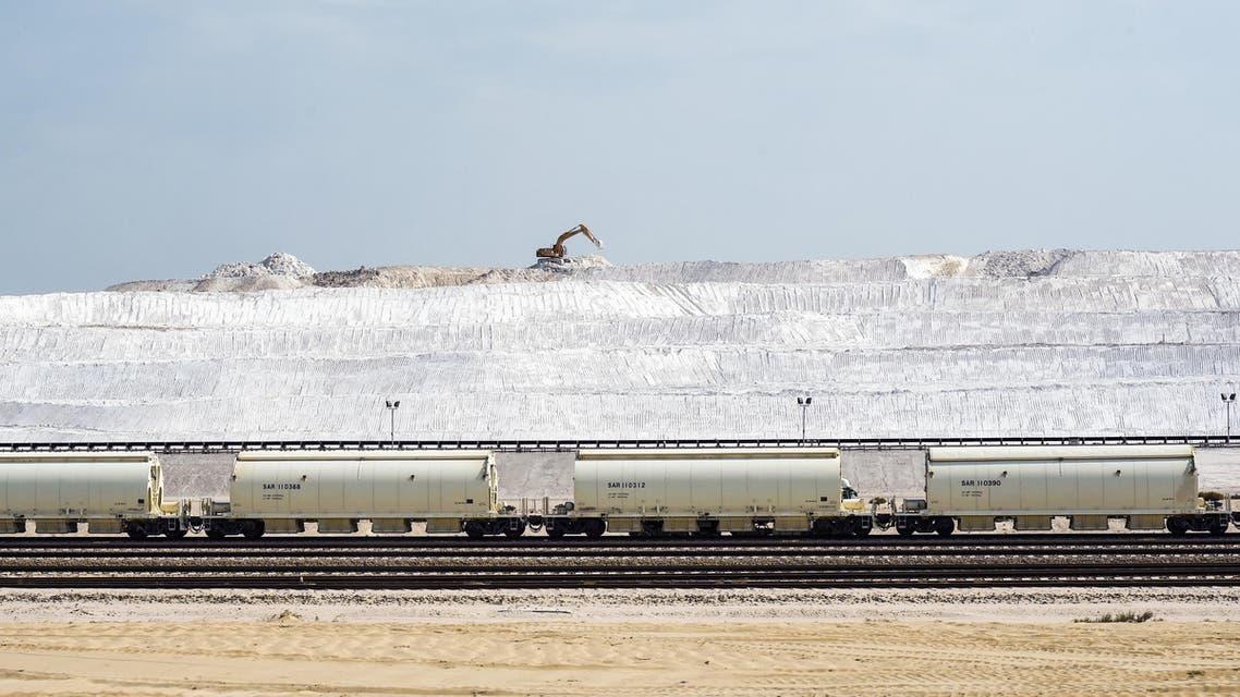 A phosphate rock production site at the Maaden Aluminium Factory in Ras Al-Khair Industrial area near Jubail City, 570 kms east of the Saudi capital Riyadh. (AFP)