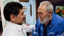 """مارادونا ينعى كاسترو ويصفه بـ""""الرجل العظيم"""""""