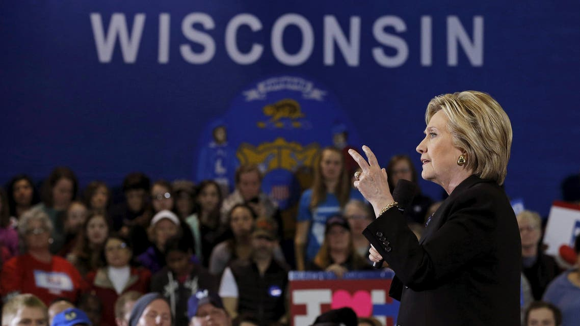 U.S. Democratic presidential candidate Hillary Clinton speaks at a campaign event in Milwaukee, Wisconsin, United States, March 28, 2016
