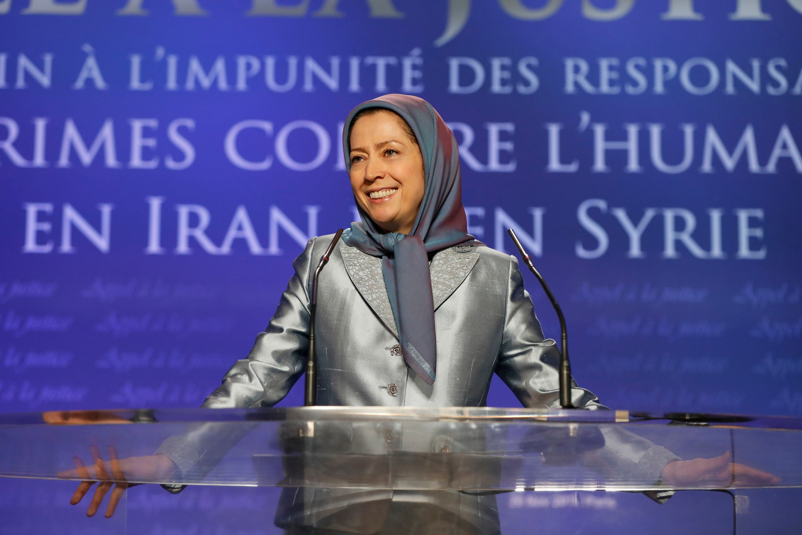 مريم رجوي رئيسة المجلس الوطني للمقاومة الإيرانية
